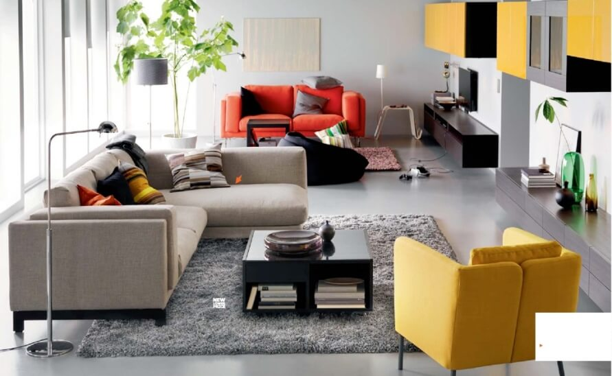 10 new and fresh ikea living room interior design ideas. Black Bedroom Furniture Sets. Home Design Ideas