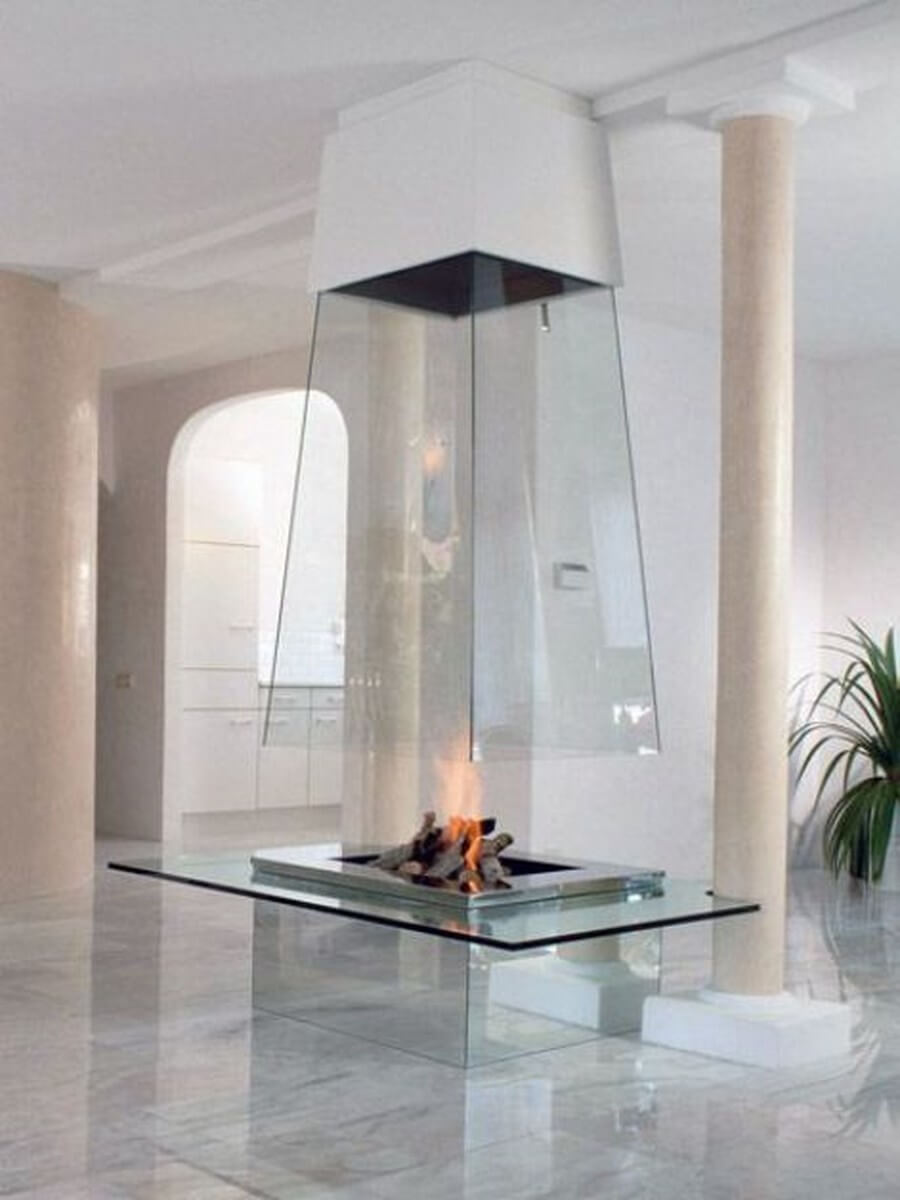 Very opulent modern fireplace design