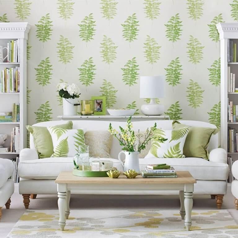White Green Living Room: 11 Green And White Living Room Design Ideas