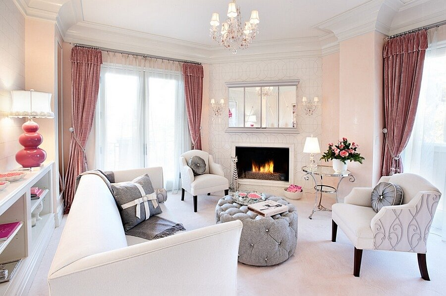 Classy Feminine Living Room