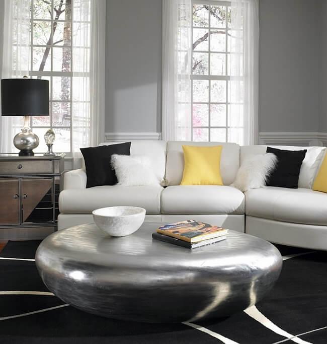 Living Room Ottoman Coffee Table Decor