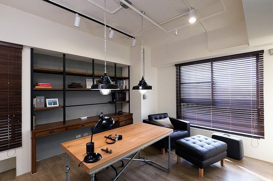 Contemporary Industrial Home Office