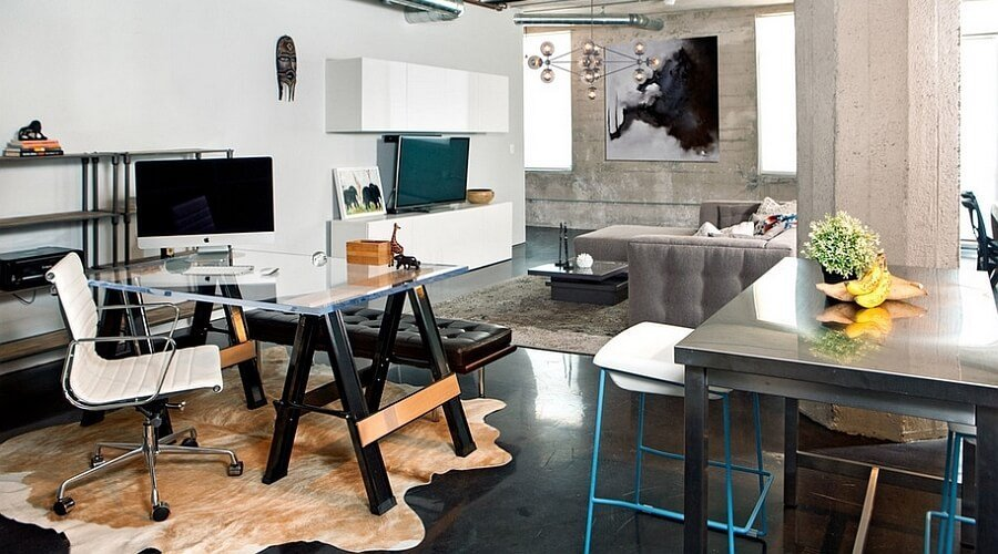 Cool Industrial Home Office