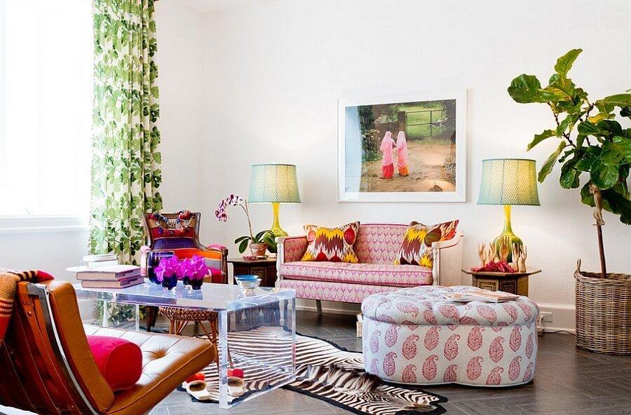 Eclectic Feminine Living Room