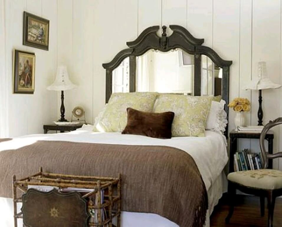 Framed Mirror Headboard