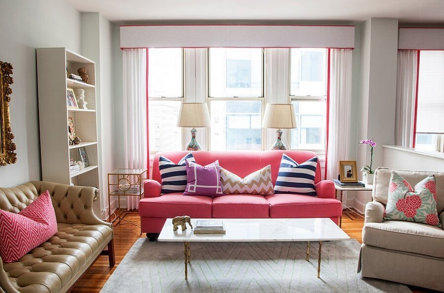 Lively Feminine Living Room