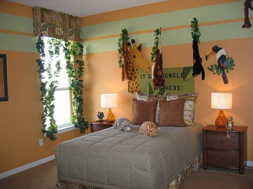 fabulous jungle house bedroom pictures | 10 Jungle Inspired Kid's Bedroom Ideas - https ...