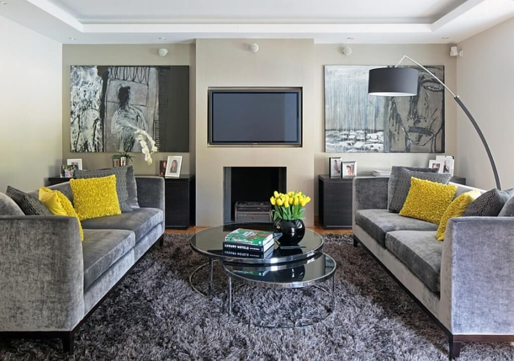 Best 15 Gray and Yellow Living Room Design Ideas ...