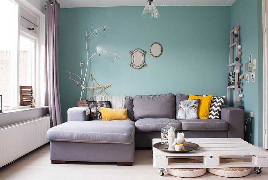 Vibrant Feminine Living Room