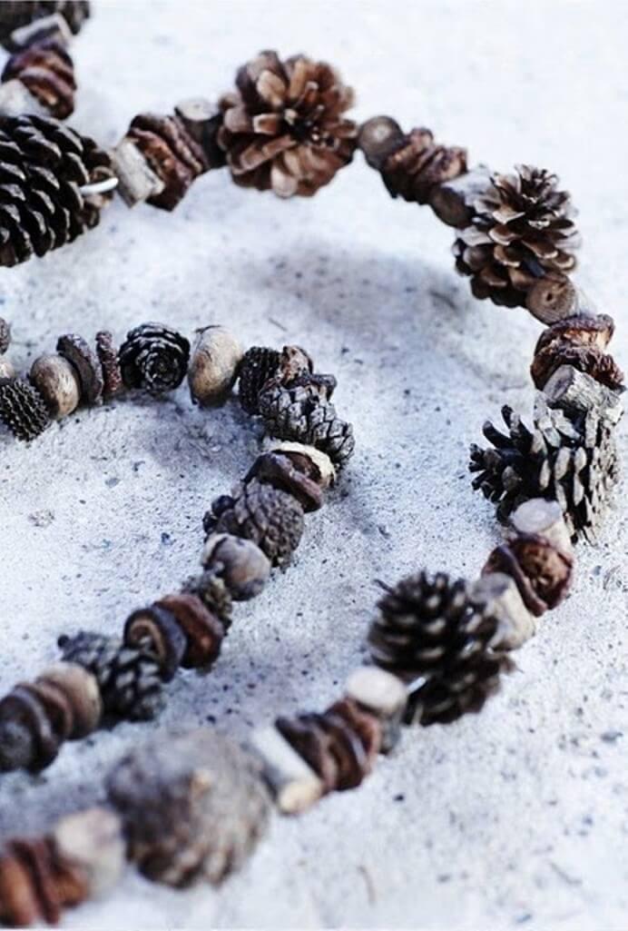 how to make christmas ponderosa pine garland