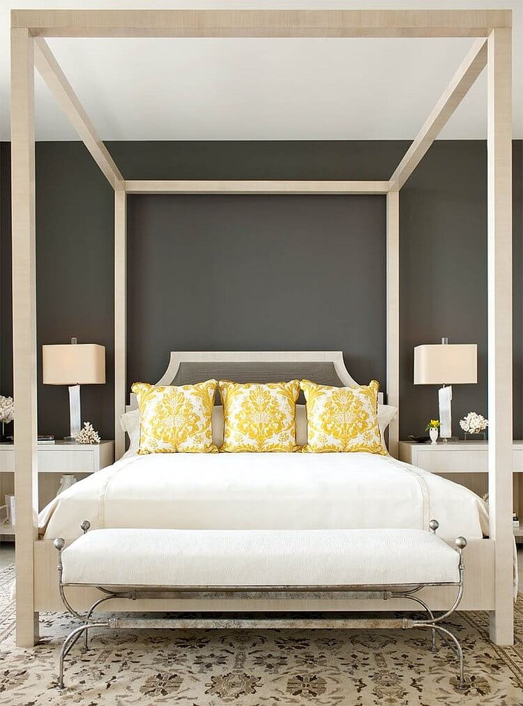 Best 12 grey and yellow bedroom design ideas for cozy and for Bedroom designs yellow