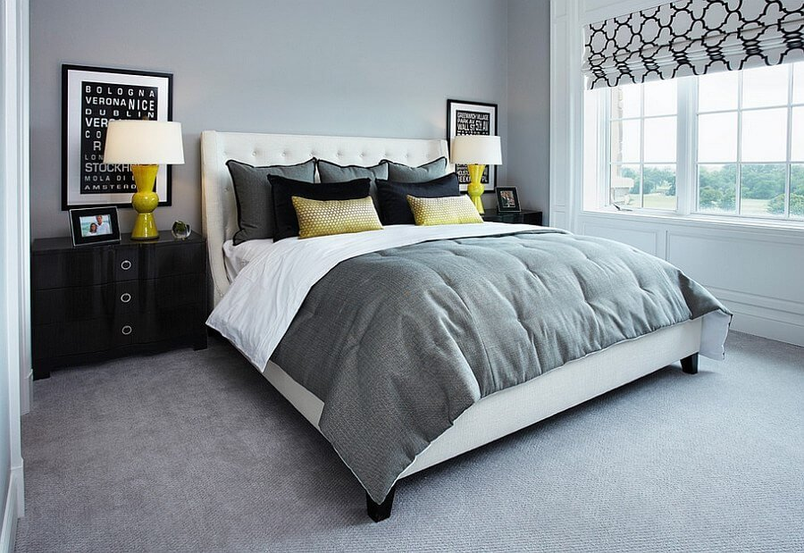 gray modern bedroom best 12 grey and yellow bedroom design ideas for cozy and 11726