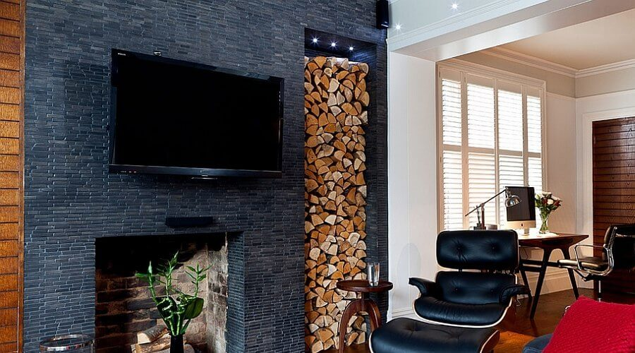 38 Small Yet Super Cozy Living Room Designs: 10 Creative Firewood Storage Ideas For The Living Room