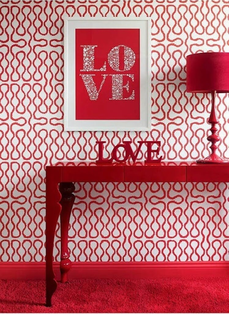 Super Chic Hot Red Decor