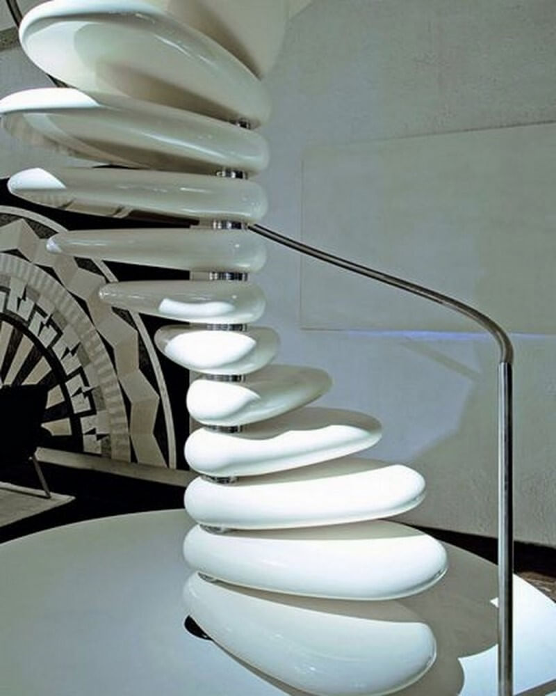 Smooth Stone Staircase
