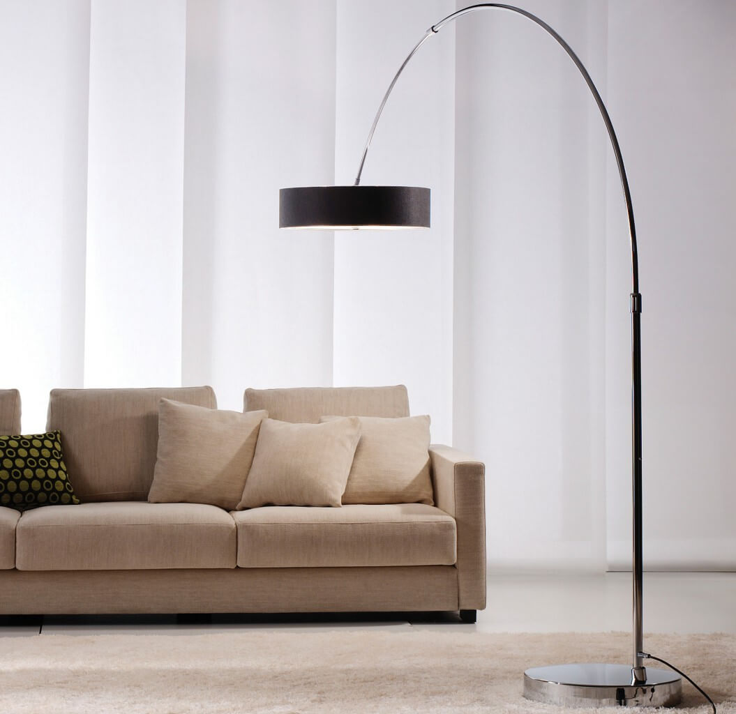 8 contemporary arc floor lamp designs as a perfect decoration detail