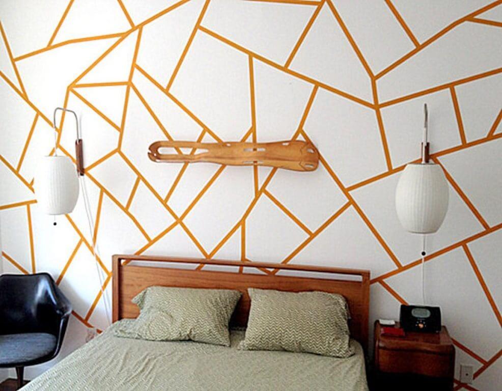 Geometric Wallpaper In 10 Bold Bedroom Ideas Https