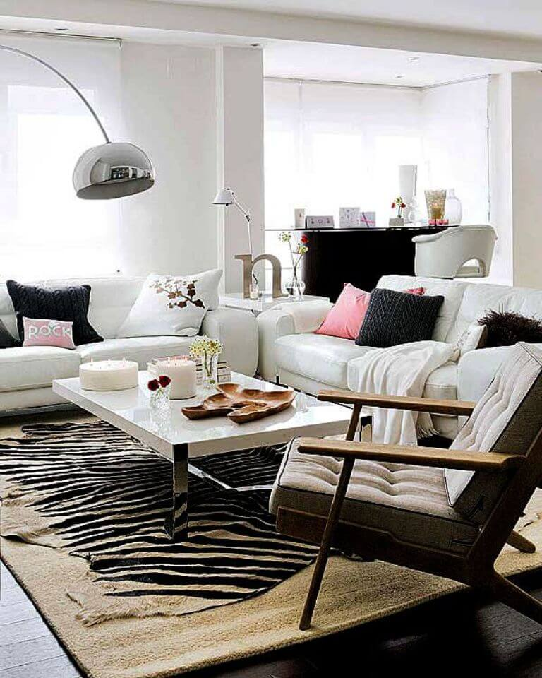 Zebra Rug Interior Design: Chic Effect- Zebra Print Accents In 10 Sensational Living