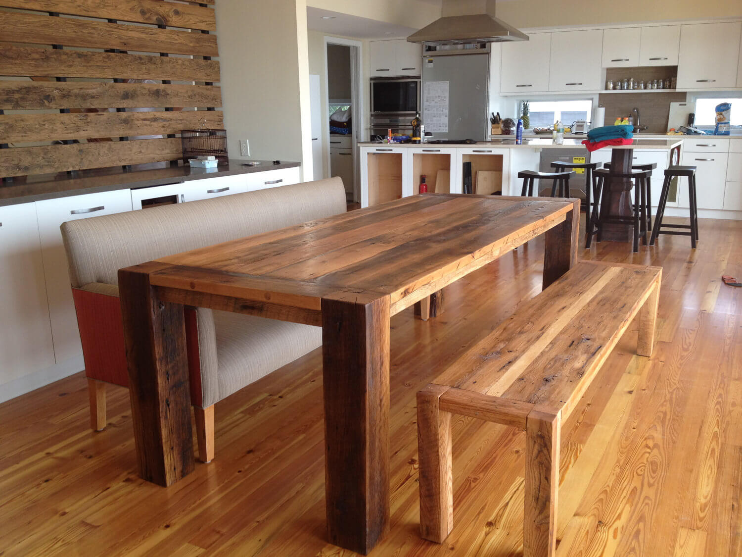 Sleek Reclaimed Wood Dining Table