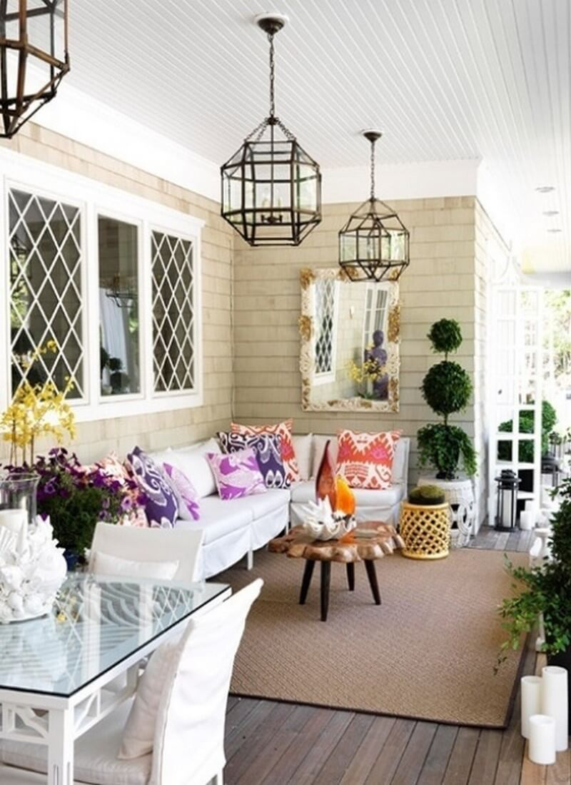 Welcome Spring Into Your Front Porch- 7 Fresh Inspiring ... on Patio Decor Ideas id=18848