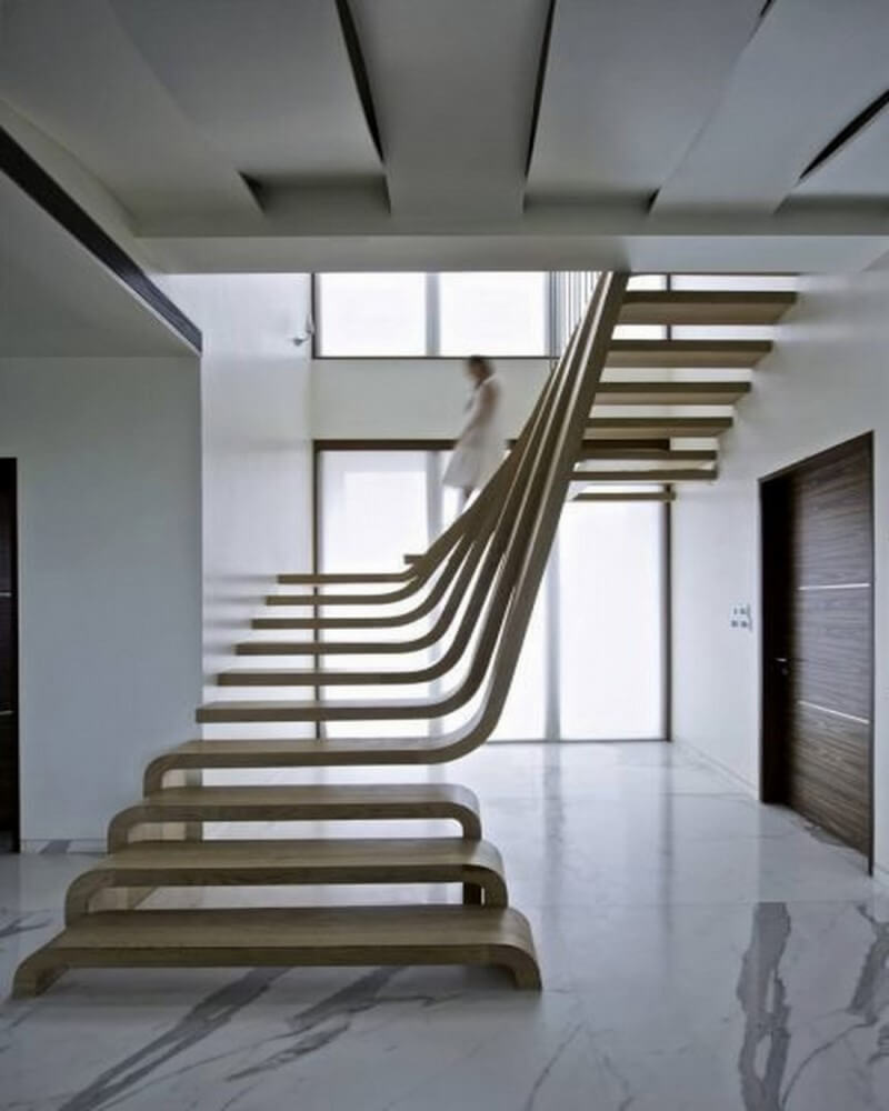 Distinctive Wood Stairs