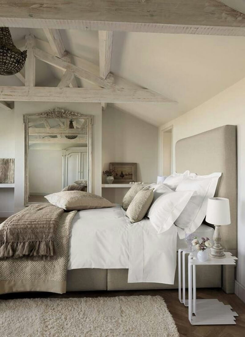 Neutral and Rustic Bedroom