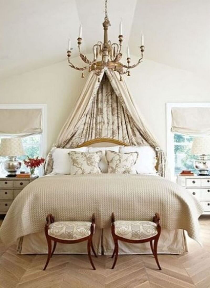 Relaxing Bedroom with Chandelier