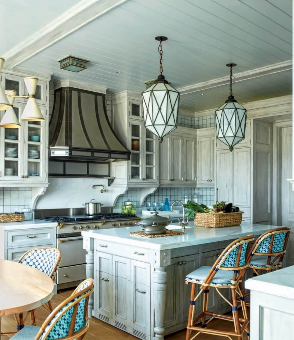Bold Framed Kitchen Cabinets