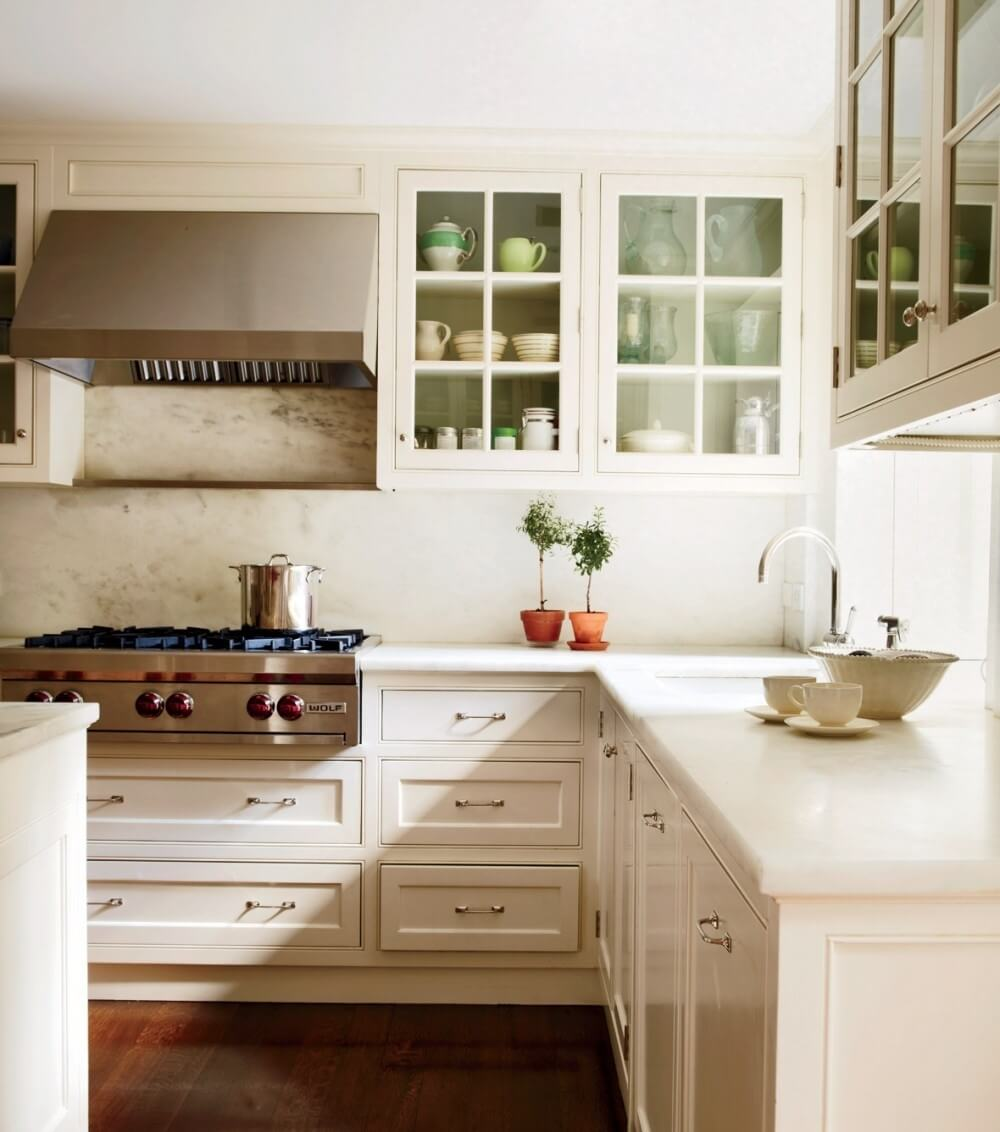 Sleek Glass Kitchen Cabinets