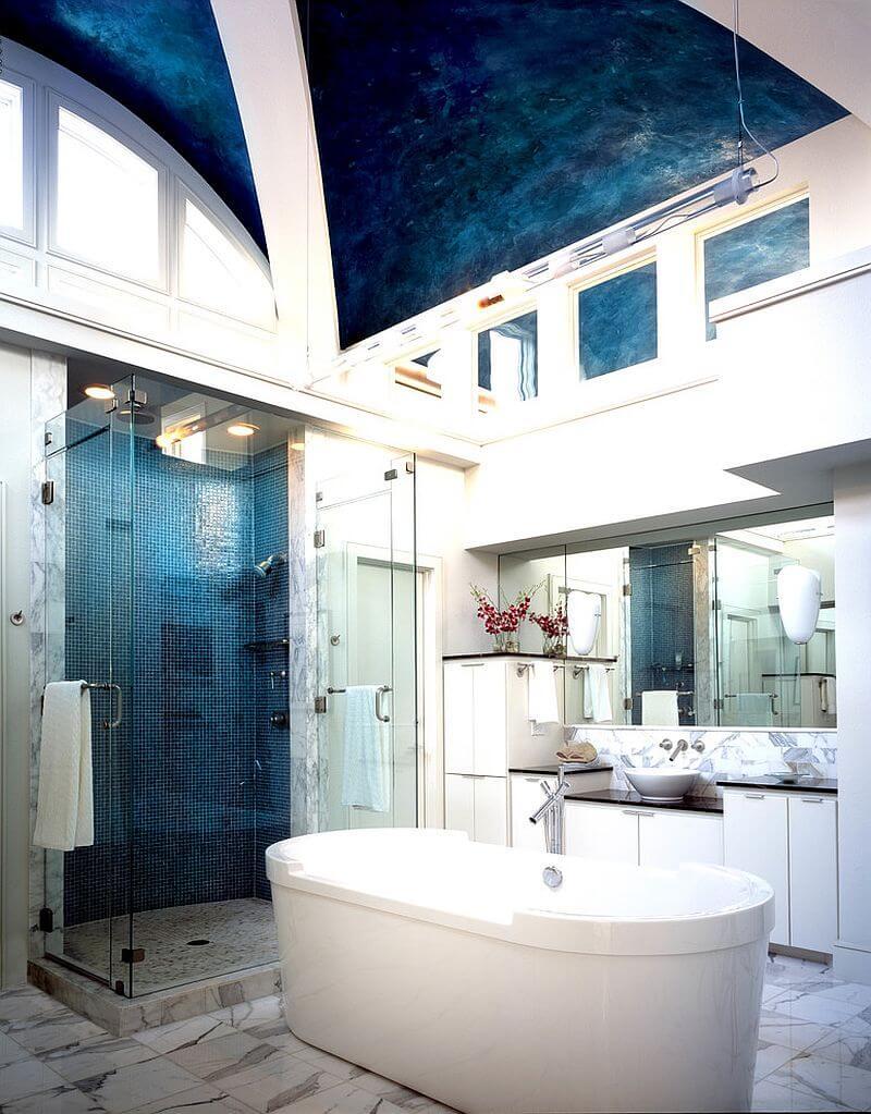 10 Blue Eclectic Bathroom Design Ideas Https