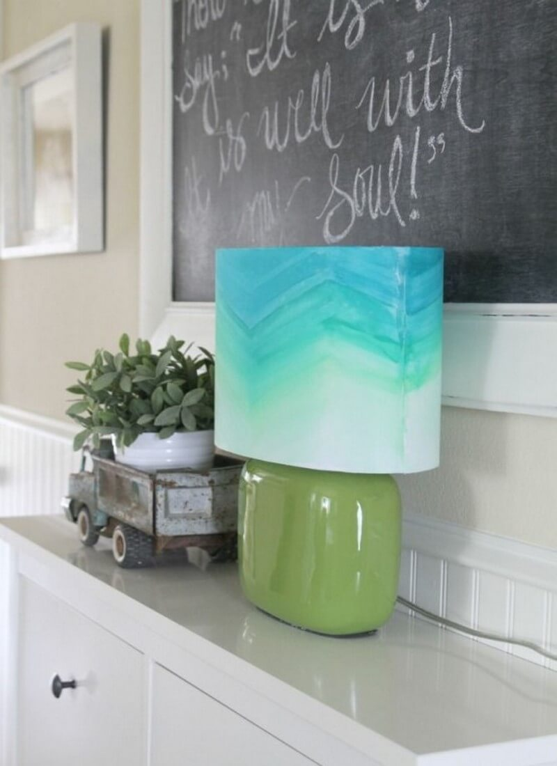Watercolor style lamp