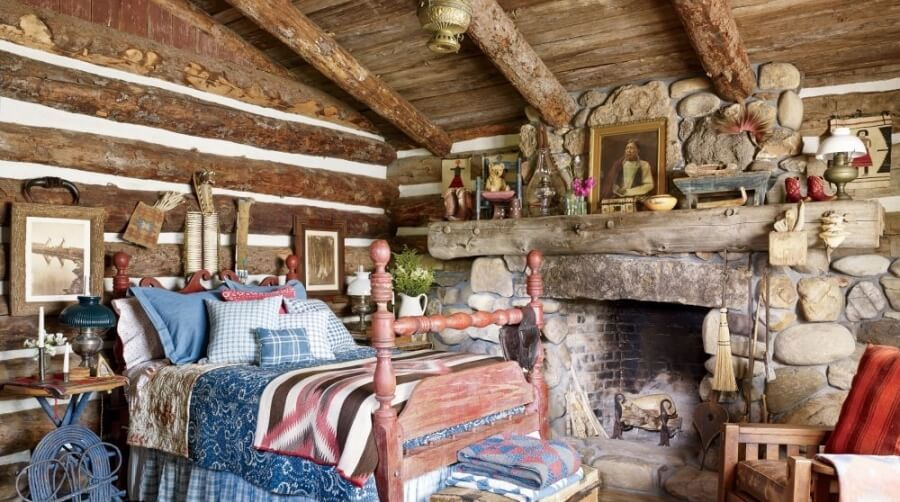 Bold Rustic Bedroom