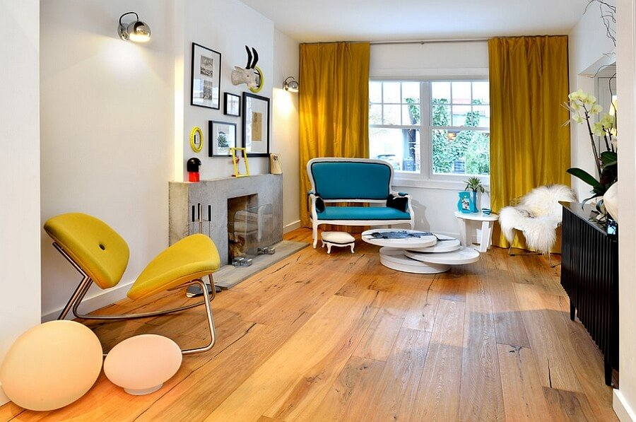 10 yellow and blue interior design ideas for your home for Blue and yellow living room ideas
