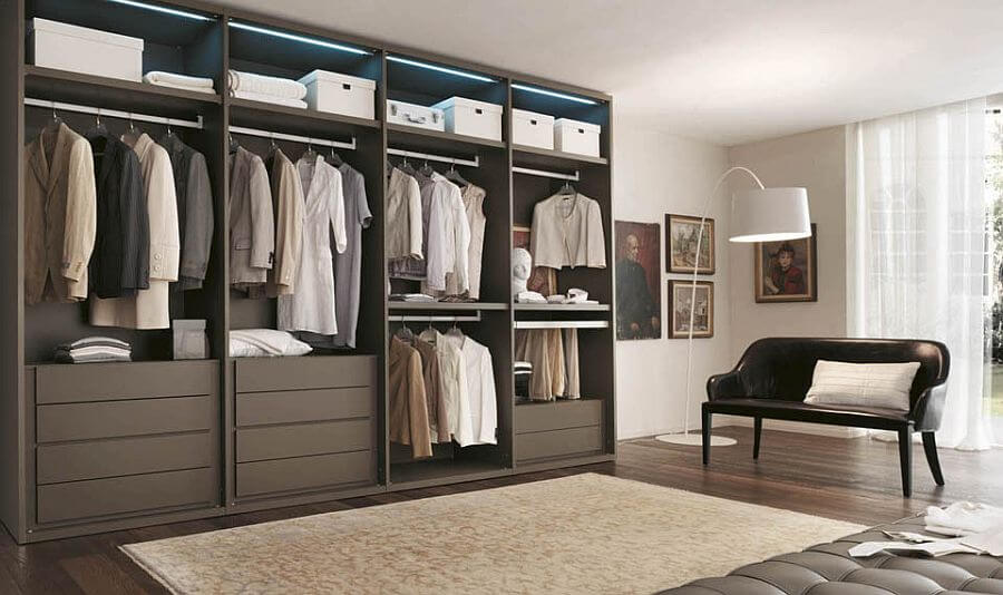 Sleek Organzied Open Display Closet