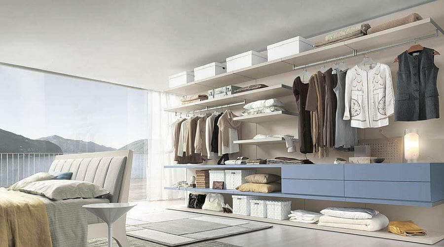 Sleek and Charming Open Closet