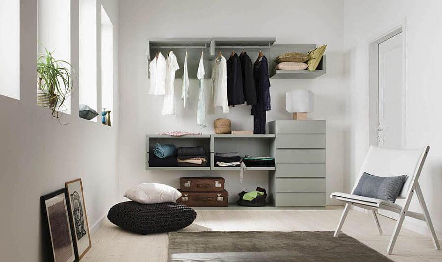 Small Open Closet