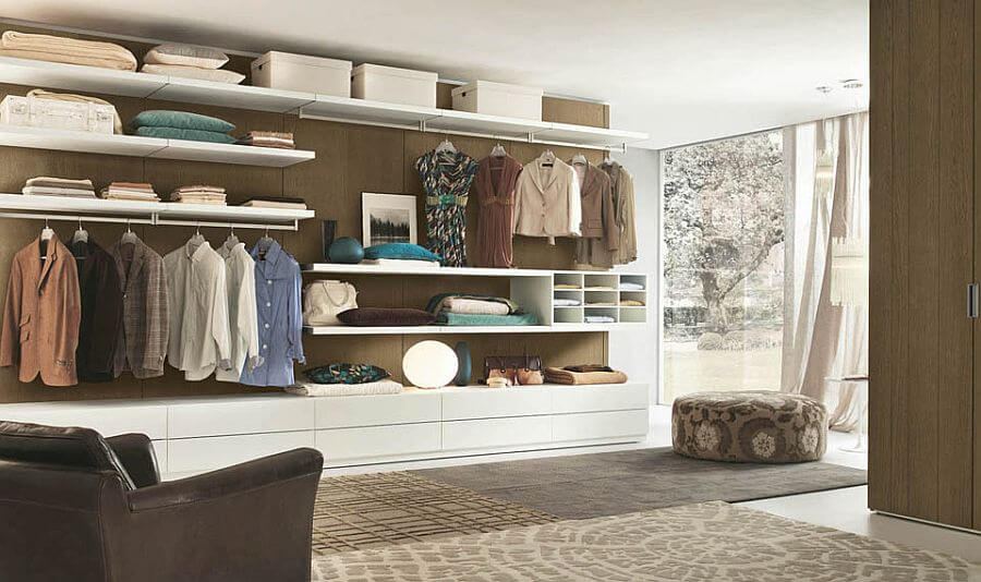 Spacious Walk In Open Closet