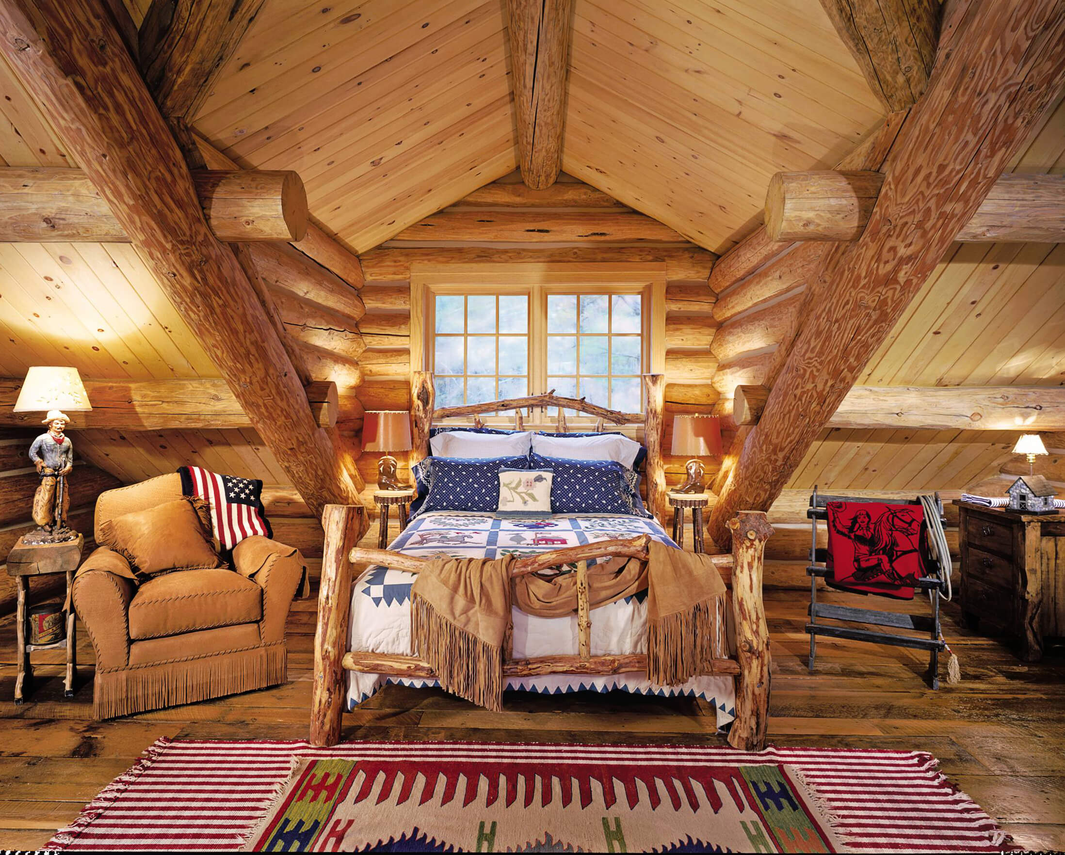 Warm Rustic Bedroom