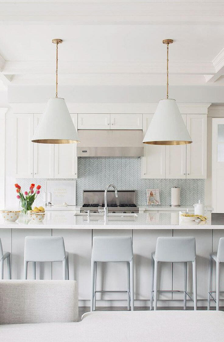 White Kitchen Pendants