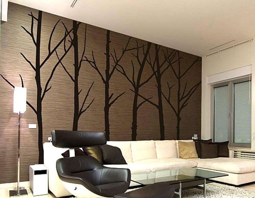 Покраска стен с трафаретом фото риге