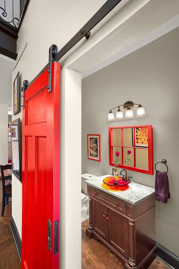 8 Rustic Bathroom Designs With Sliding Barn Doors Https