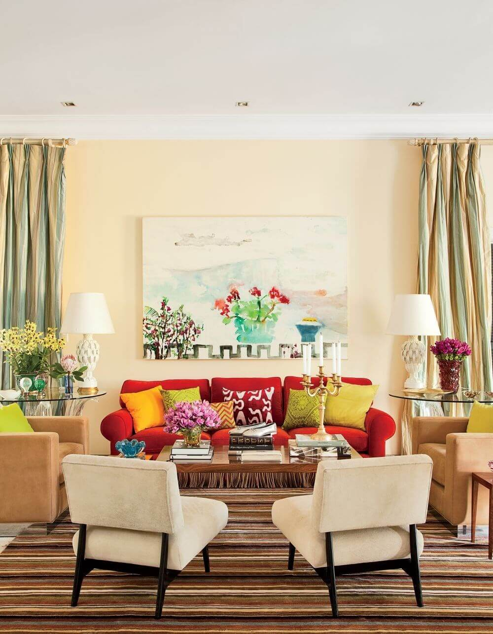 Vibrant summer living room