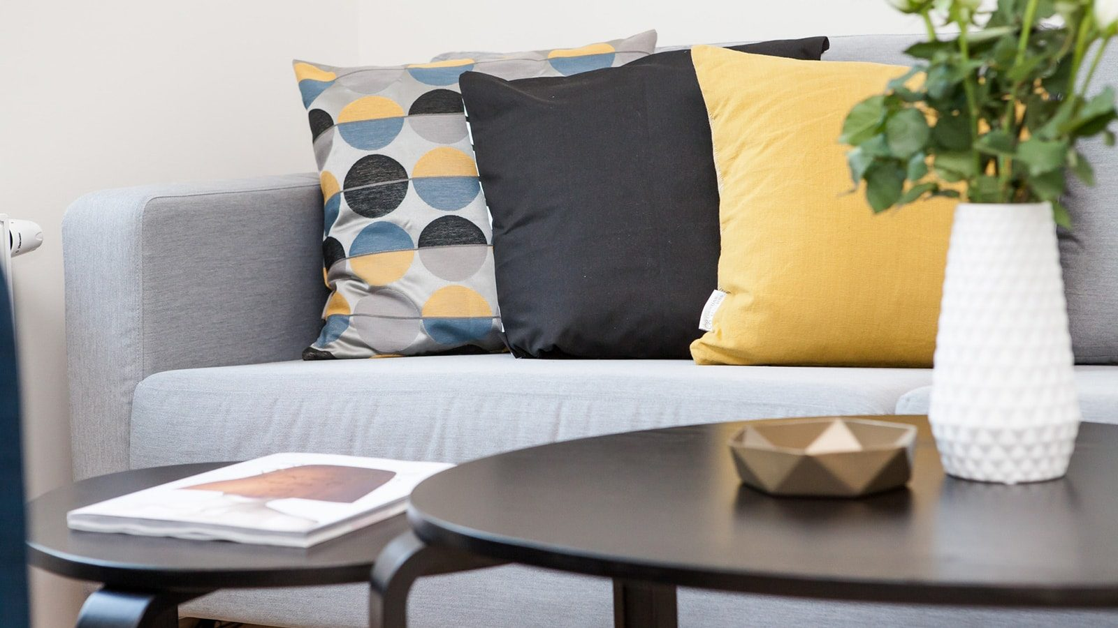 Best 15 Gray and Yellow Living Room Design Ideas