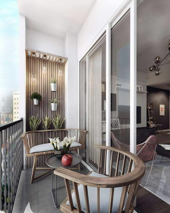 Sliding Balcony Doors with Chairs