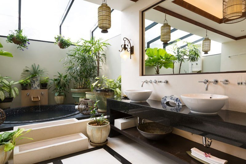 Green Spa Bathroom