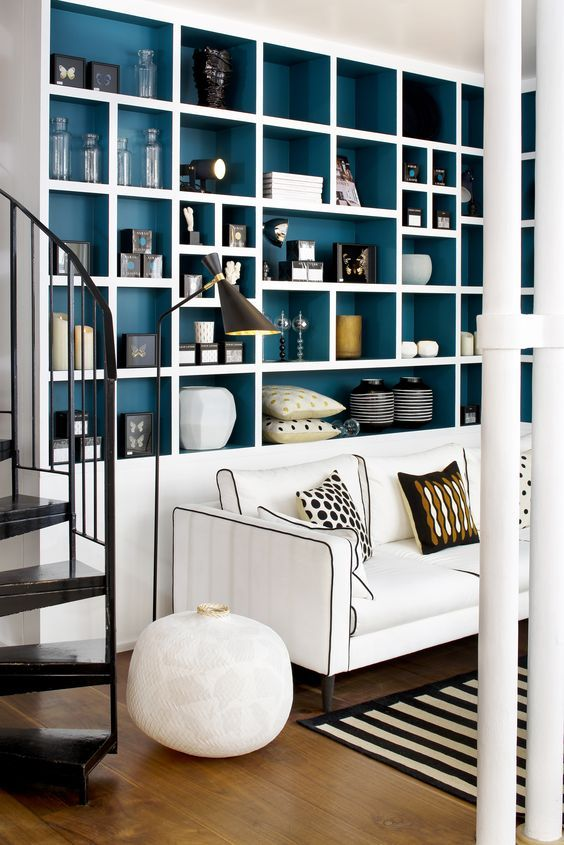Dark Blue Shelves