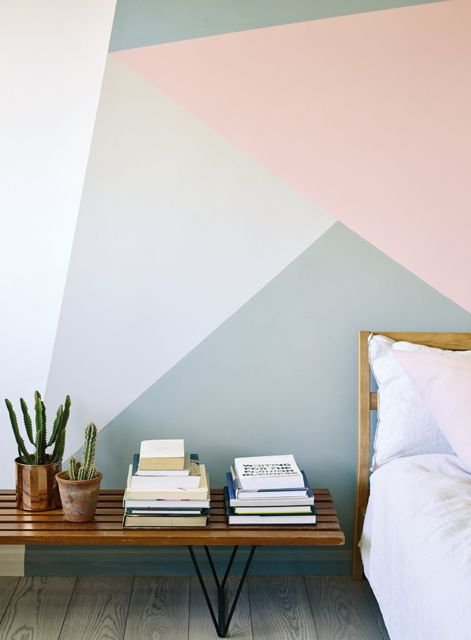 Geometric Accent Wall Interior Idea
