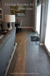 Natural Wood and Black Tile