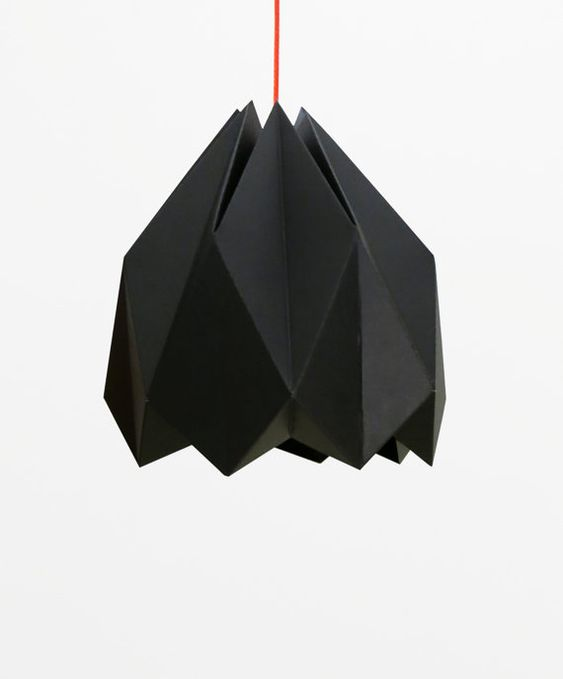 Black Origami Lamp