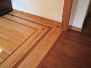 Flooring with Border Pattern